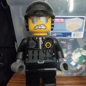 Lego bad cop alarm clock